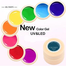 NEW Nail Art Gel Paint 5ml nail polish Natural Camouflage Nude Color Series UV LED 2 in 1 Nail Gel(China)
