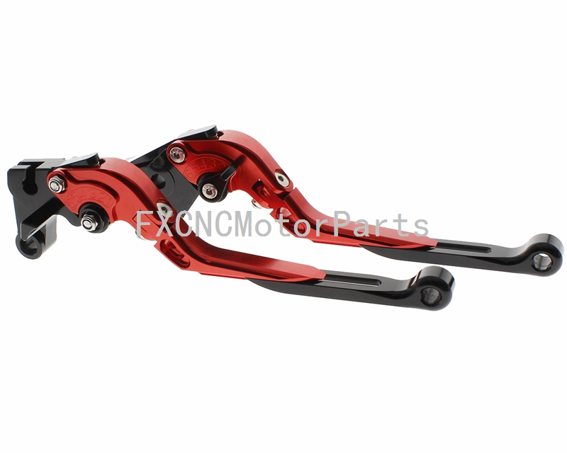 CNC Extending Folding Clutch Brake Lever One Pair Red For Honda GL 500 1981 Motorcycle Parts<br>