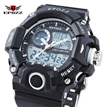 EPOZZ G Style Men Water Sports Dive Watch LED Digital Silicone Strap Male 5Bar Waterproof Clock 2811