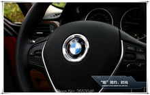 Car styling 1pcs Car Steering Wheel Center Decoration Ring Cover Trim for BMW X3 X5 X6 F15 F10 F30 E91 E46 E39 E90 Accessories