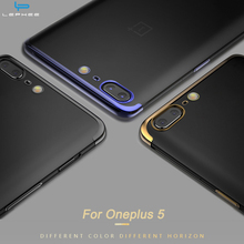 LEPHEE Oneplus 5 Case Silicone One plus 5 Cover Laser Plating Ultra Thin Soft TPU Back Cover Oneplus5 A5000 Phone Cases 1 Plus 5