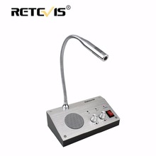 Retevis RT-9908 Dual-Way Counter Interphone Audio Record Anti-interference Window Intercom System For Bank Hospital Bus Station(China)