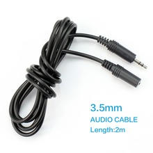 jack 3.5mm male to female Stereo Audio Cable 2m Headphone Aux Extension Cable for Computer/Cellphone/DVD/MP3 F10150