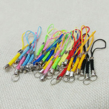 50PCS Lariat Lanyard mobile case USB stick cord bag charms figure cartoon stuff holder Rope keychains split jump rings hook diy