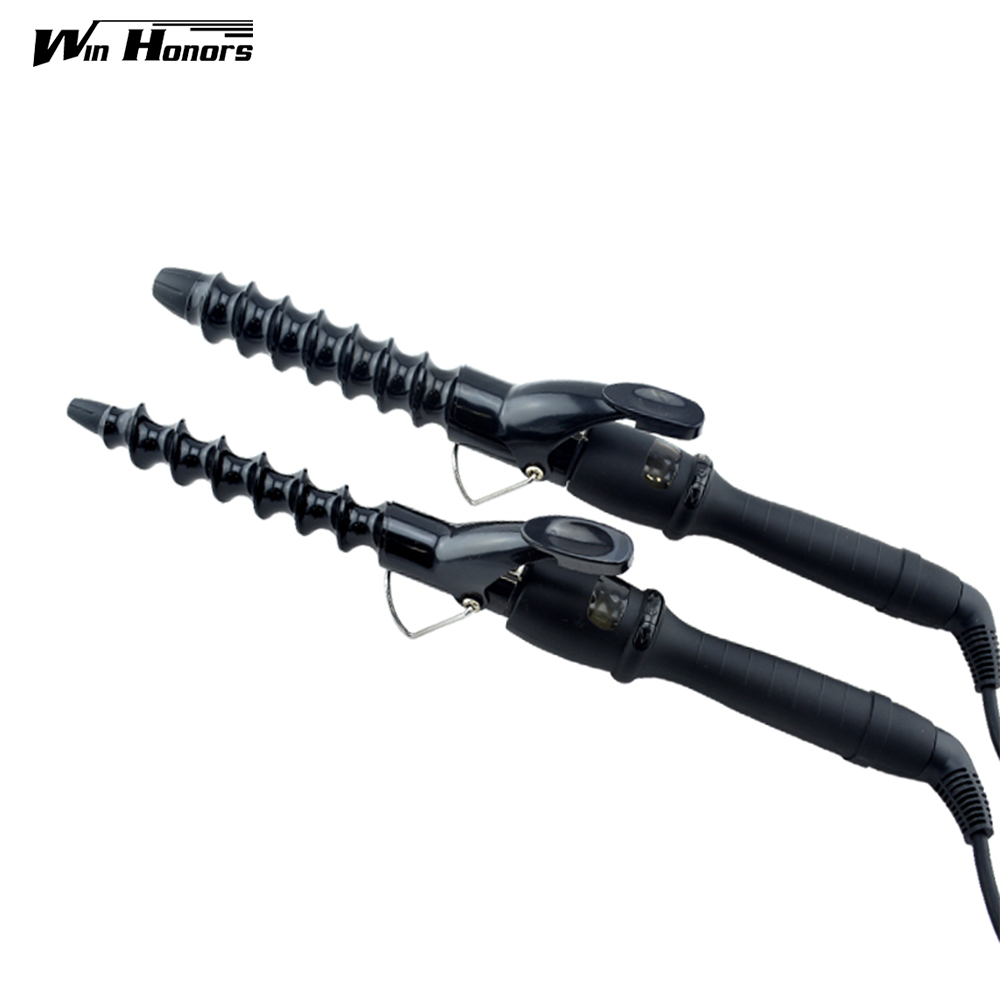 Useful Electric Hair Salon Spiral Ceramic Curling Iron Hair Curler Monofunctional Hair Curler DIY Dry Wet Styling Tools<br>