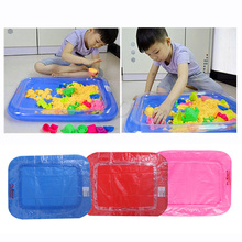Inflatable Sand Tray Castle Mobile Table Multi-function Sand Mold Plastic Children Kids Clay Color Mud Toys Indoor Play Sand(China)