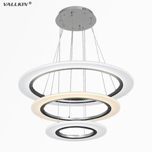VALLKIN LED Pendant Lights Modern Kitchen Acrylic Suspension Hanging Ceiling Lamp Dining Table Lighting for Home 50W FCC CE ROHS(China)