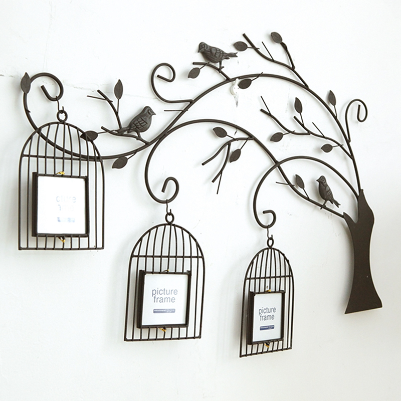 All handmade Retro iron tree birdcage creative liv...