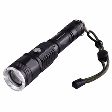 Hot Sale Riding Hunting Torch Tactical Flashlight Military Police Use Flashlight Waterproof T6 Long-range Rechargeable LED Light(China)