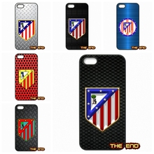 For Apple iPod Touch 4 5 6 iPhone 4 4S 5 5C SE 6 6S Plus 4.7 5.5 Club Atletico de Madrid S.A.D Hard Black Skin Case Cover