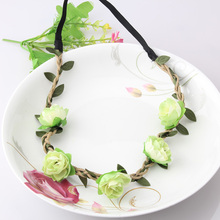 MISM New Arrival Women Accessories Cloth Flower Girls Elastic Hair Bands Headband Accessories Beauty Hair Band Leaves Headdress(China)