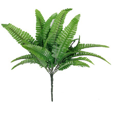 Romantic Green Imitation Fern Plastic Artificial Grass Leaves Plant Display Flower for Home Wedding Xmas Decoration (Green)