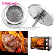 50-500 Degree BBQ Meat Thermometer Kitchen Oven Grill Temperature Gauge 100~1000 Fahrenheit New #G205M# Best Quality