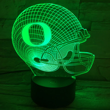 Sport Cap Night Lights Football Helmet Desk Lamp Produces Unique Lighting Effects 3D Colores Lamba Battery-powered Lamps Lampade(China)