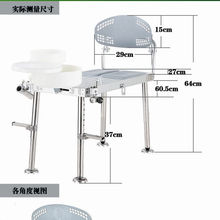 Mini aluminum fishing stool Small folding fishing chair with adjustable legs Accessories bait tray and rod fort