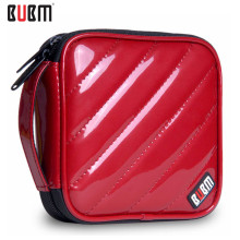 BUBM 32 Capacity CD Storage Bag Square Shape Waterproof PU CD/ DVD Storage Wallet CD Organizer Case - multicolour