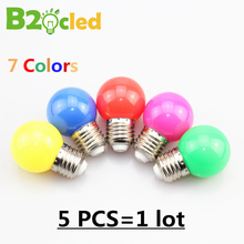 E27 Red blue green yellow warm white pink LED bubble ball bulb lamp 1W 3W 220v color light lamp Colourful 5 pcs / lot