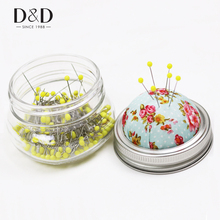 D&D Fabric Crafts  Pin Cushion Glass Bottle with 200pcs Quilting Needles Home Embroidery DIY Sewing Tools Accessories