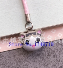 New 50 pcs Cute Japanese anime cat key chains Cartoon Cell Phone Strap Bell Charm Gift