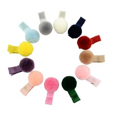 12pcs/lot hair accessories hairpin small Pompon gripper original Korean children hair clip 668