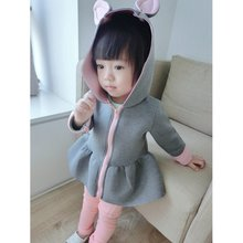 Girls Jacket Autumn Animal Rabbit Design Cotton Zipper Spring Baby Girl Coat Children Jackets