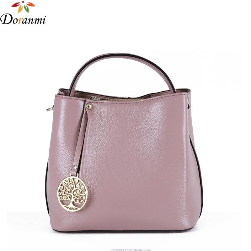 DORANMI Genuine Leather Bucket Shoulder Bag For Women 2017 Brand Design Luxury Handbags Solid Casual Cow Leather Shoulder Bag<br><br>Aliexpress