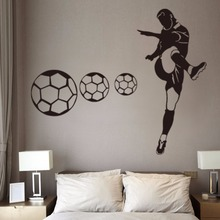Custom Boots Soccer Wall Stickers Male Bedroom Students Dormitories murals Fitness Clubs Football Clubs Personalized Decals(China)