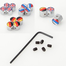 4pcs/lot Car Auto Wheel Tire Tyre Valve Cap Cover Anti-theft Steal Air Dust Covers for UK Russia Germany Flag