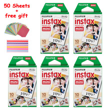Genuine Fuji Fujifilm Instax Mini 8 Instant Film Cheap For Mini 7s 50s 90 25 SP-1 SP-2 Instant Cameras Photo Paper 50 Sheets