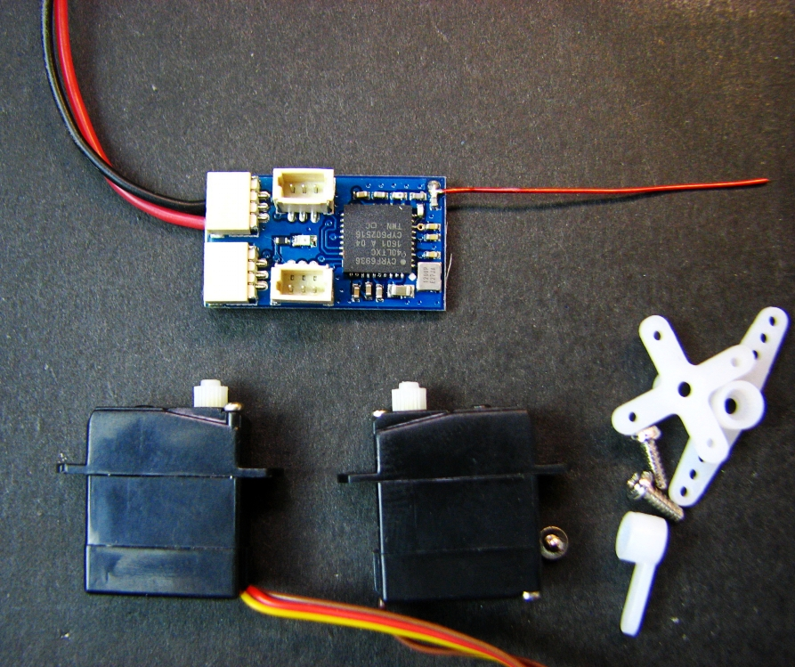 DSM2/DSMX  receiver  and 2g micro servo*2set Brush with 5A micro aircraft AIR PLANE DIY Plane<br>