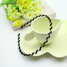 1pcs Hair Accessories Solid Black Headband for Boys/Girls Birthday Party Celebrations LUHONGPARTY(China)