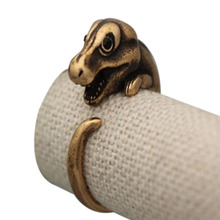 New Hot  Vintage Adjustable Dinosaur Animal Wrap Fashion Jewelry Rings Gift for Women Men