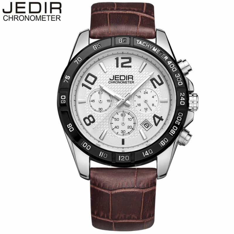Watches Men 2017 JEDIR Luxury Brand Quartz Watch Military Sport Chronograph Clock Male Leather Band Wristwatch relogio masculino<br><br>Aliexpress