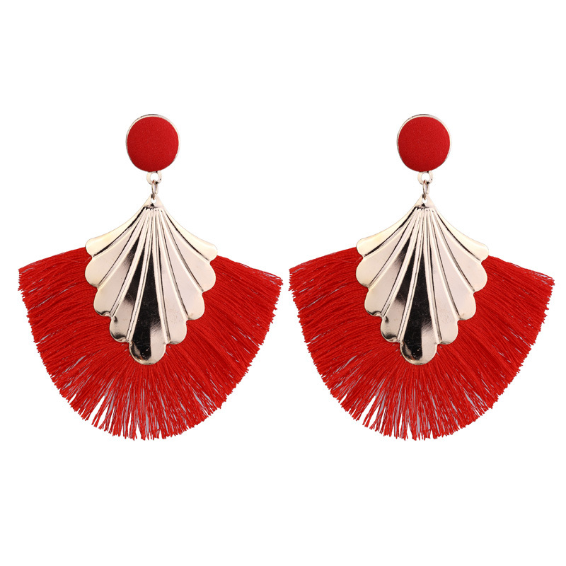 New Bohemian Exaggerated Tassel Earrings for Women Handmade Statement Large Fringe  Women Earrings Jewellry Party 2019
