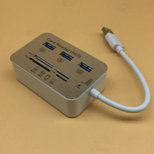 suqy Multi Function 3 Port USB HUB Splitter Combo Card Reader Support Micro TF SD M2 MS SDHC MMC Card Read Write(China)