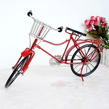 Fashion handmade metal craft retro metal bike model vintage iron bicycle collection Pub/Shop decoration kid's gift(China)