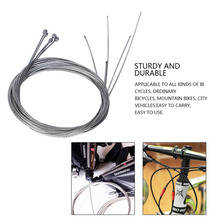 5pc Road bike MTB Bike Fixed Gear Bicycle Brake Line Shift Shifter Sets Core Inner Wire Silver Steel Speed line - TopYK-S Outdoor Store store
