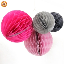 Buy 5pcs/lot 10inch Tissue Paper Honeycomb Balls Pompoms Paper Lanterns Home Decor Birthday/Wedding Party Decorations for $9.09 in AliExpress store