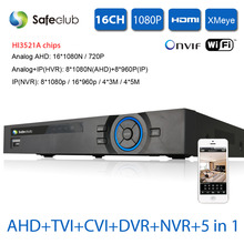 XMEYE 16ch AHD 1080N 720P DVR HDMI 1080P 16CH 1080P DVR NVR For security AHD/IP camera onvif CCTV DVR Recorder USB 3g Wifi DVR(China)