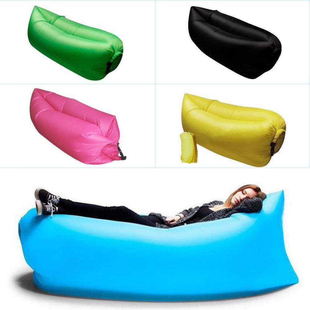Lounge Sleep Bag Lazy Inflatable Beanbag Sofa Chair, Living Room Bean Bag Cushion, Outdoor Self Inflated Beanbag Furniture<br>