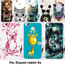 Cases Cover Xiaomi Redmi 4X 5.0 inch Bags Skin Hard Plastic Soft TPU Cell Phone Housing Colorful Animal Shell Sheaths - 3C Accessories Shops Store store