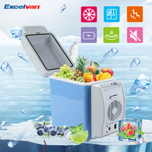 Portable 7.5L Mini Auto Fridge 12v Car Refrigerator Multi-Function ABS Home Cooler Freezer Cooling to 5 Degree