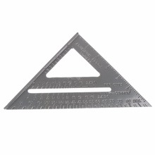 Aluminum Alloy Speed Square Protractor Miter Framing Tri-square Line Scriber Saw Guide Measurement Inch Carpenter Ruler