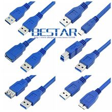 Mini USB 3.0 Micro B USB 3.0 Cable BM USB3.0 Male to Female Extension Cable 0.3m 0.6m 1m 1.5m 1.8m 3m 5m 1ft 2ft 3ft 5ft 10ft(China)