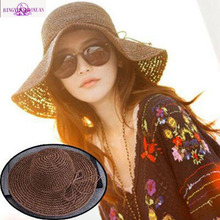 2017 Band New Women's Hollow Crochet Hats Dome Summer Mesh For Women Straw Hat Foldable Sun Hat Beach Hat