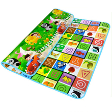 Double Sided Fruit Letter Baby Play Mats Crawling Pad Kids Game Carpet Toys For Children Developing Rug Mat for Children 715