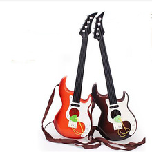 Rock Music Theme Metal Ukulele Guitar Musical Instruments Toys For Children Guitar Freaks Portable Music Electronic Organ(China)