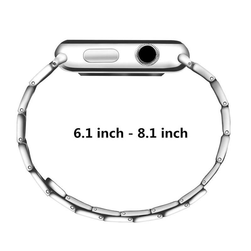 Luxury stainless steel watch band for apple series 1 2 3 watch strap 38-42 mm reloj hombre marca de lujo heren horlogewatcha bracelet (6)