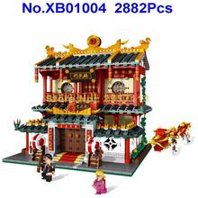 XB01004 2882Pcs Creative Construction The Chinese Martial Arts Building Block Brick Toy(China)