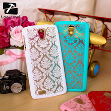 "Luxury Hard Plastic Phone Cases for Lenovo S820 4.7"" S 820 Covers Palace Paper Cut Flower Mobile Phone Accessories Bags Hood"